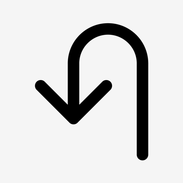 Vector U Turn Icon, Road, Sign, Turn Icon PNG and Vector.
