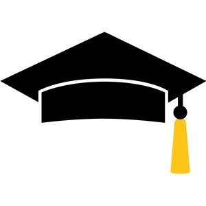 Silhouette Design Store: graduation cap.
