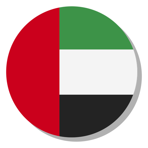 Uae flag language icon circle.