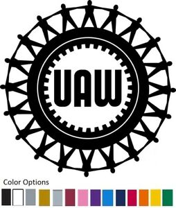 Details about UAW Vinyl Decal Car Truck Window Sticker United Auto Workers  CHOOSE COLOR.