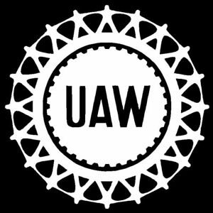 Details about United Auto Workers UAW Vinyl Decal Sticker Window Jdm Laptop.
