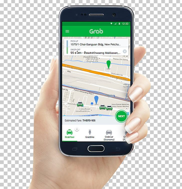 Taxi Grab Uber Mobile App Aplikasi Penyedia Transportasi PNG.