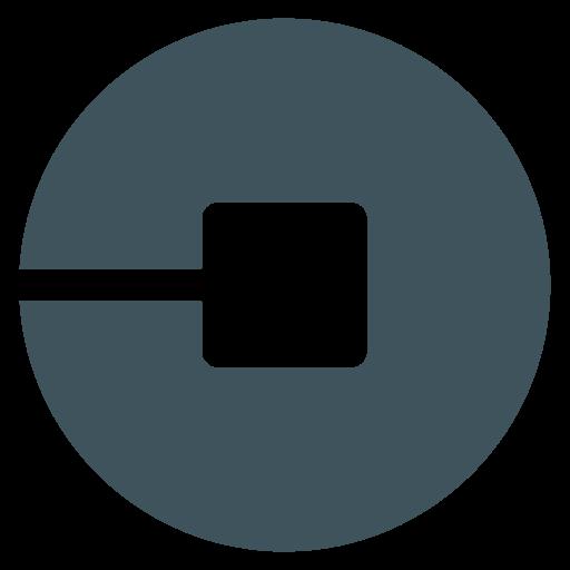 Car, driver, logo, social, social media, uber icon.