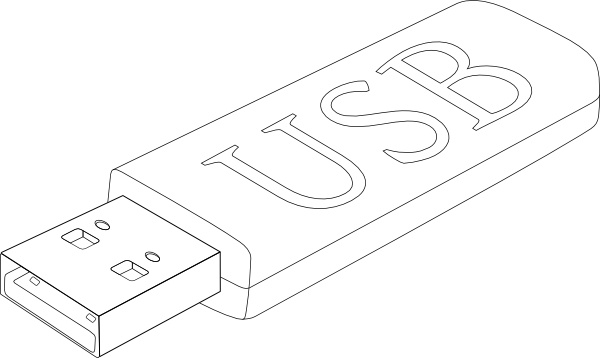 Usb Stick clip art Free vector in Open office drawing svg ( .svg.