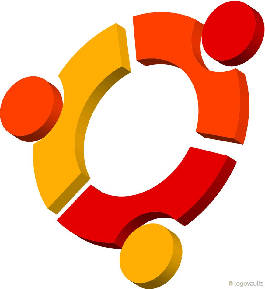 Ubuntu Linux 3D Logo (EPS Vector Logo).