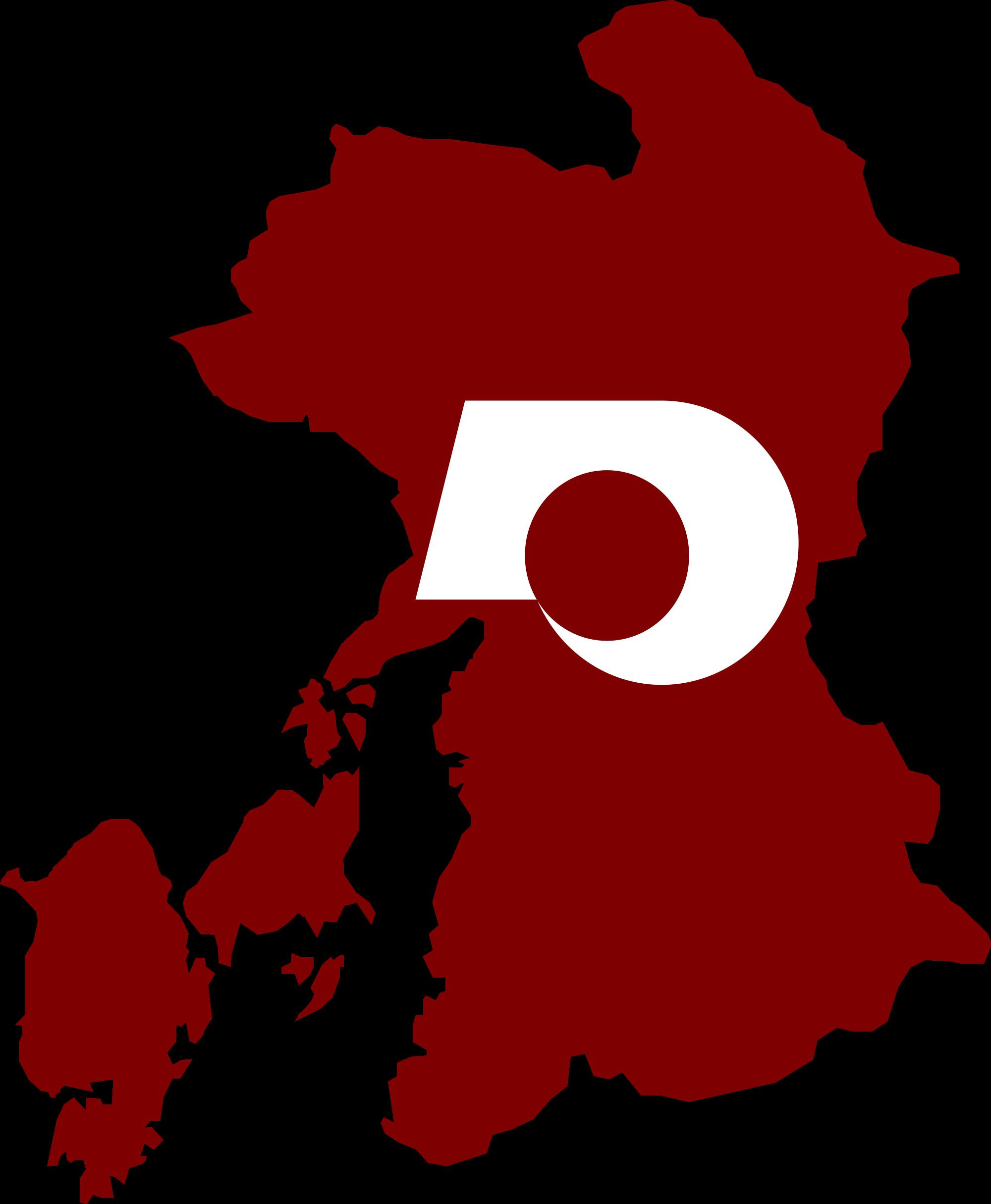 File:Flag map of Kumamoto Prefecture.svg.