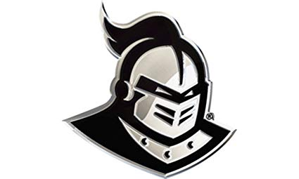 UCF Knights Mascot SD76324 Premium Raised Metal Chrome Auto Emblem  University of Central Florida.