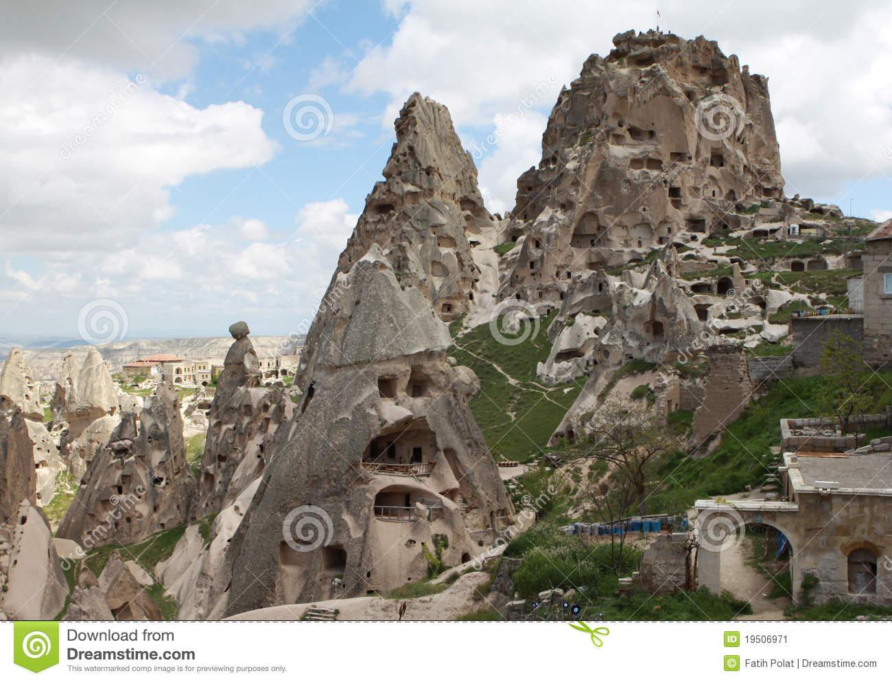 Uchisar Castle , Cappadocia, Nevsehir Stock Photo.
