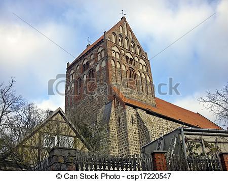Stock Foto von Kirchen, uckermark.