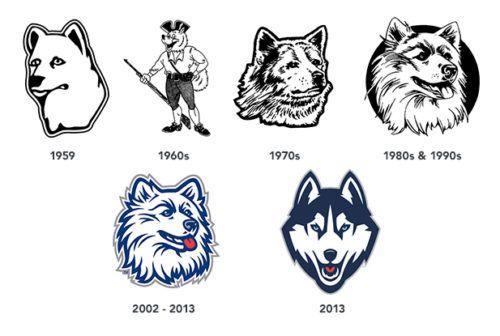 UConn Logo history.