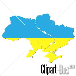 CLIPART UKRAINE FLAG MAP.
