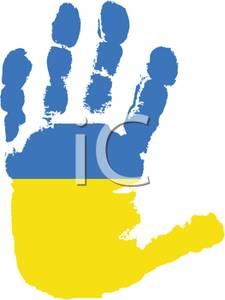 of Ukraine Handprint.