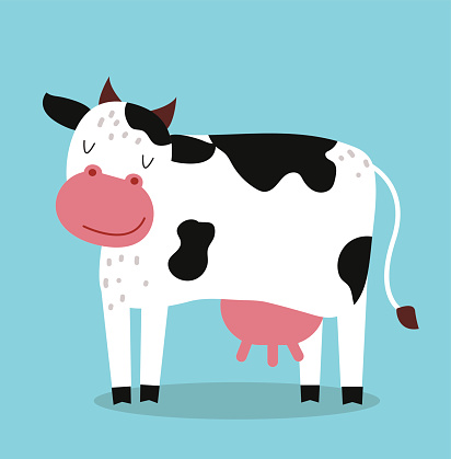 Animated Cow With Udders.