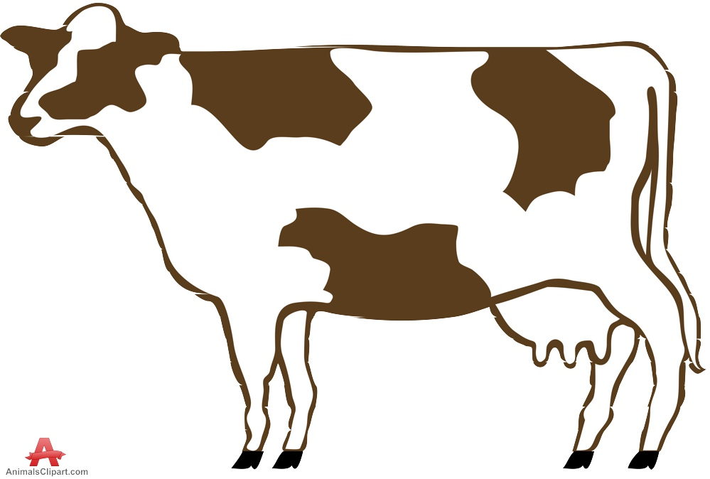 Cow udders clipart.