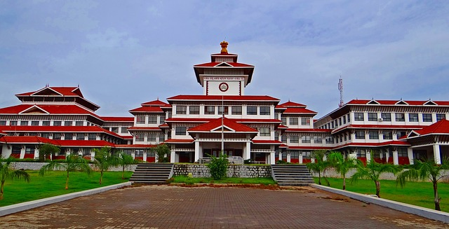 UDUPI COLLECTORATE, MANIPAL, KARNATAKA, INDIA, BUILDING.