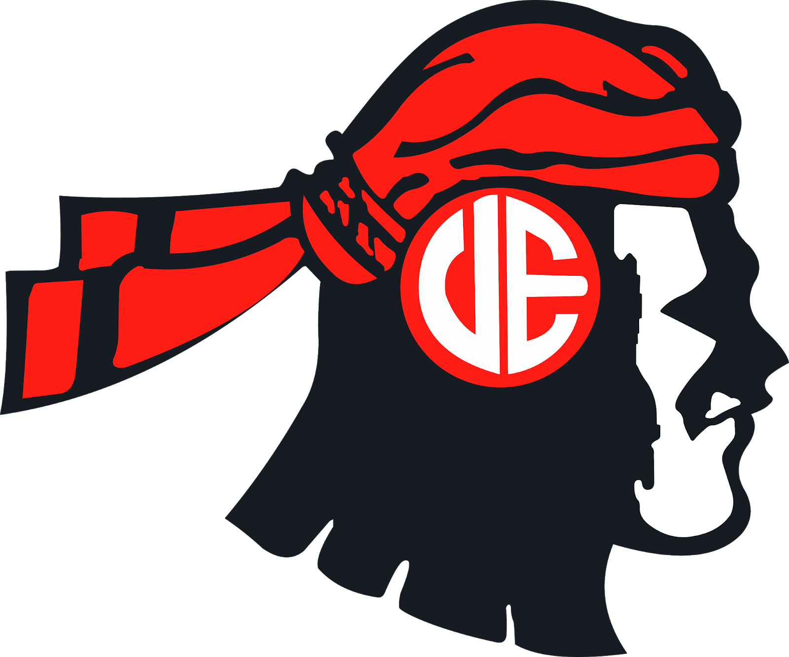 The Red Warriors Logo.