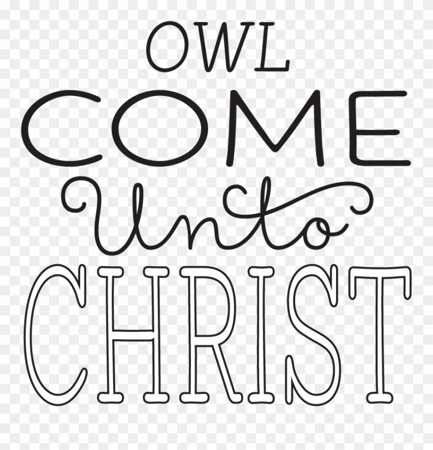 Yw Personal Progress V{owl}ues Come Unto Christ Clipart.