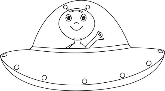 Ufo Clipart Black And White.