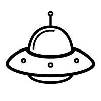 1095 Spaceship free clipart.