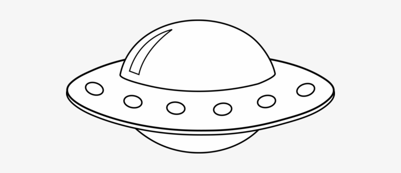 Ufo Black And White Clipart.
