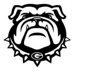 Bulldog Mascot Drawing.