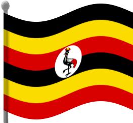 uganda flag waving.
