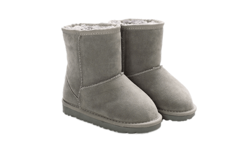 Short Grey UGG Boots transparent PNG.