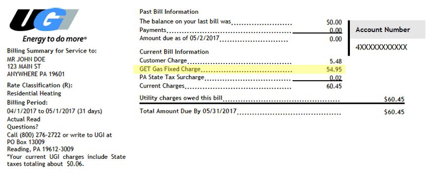GET Gas Program Bill.