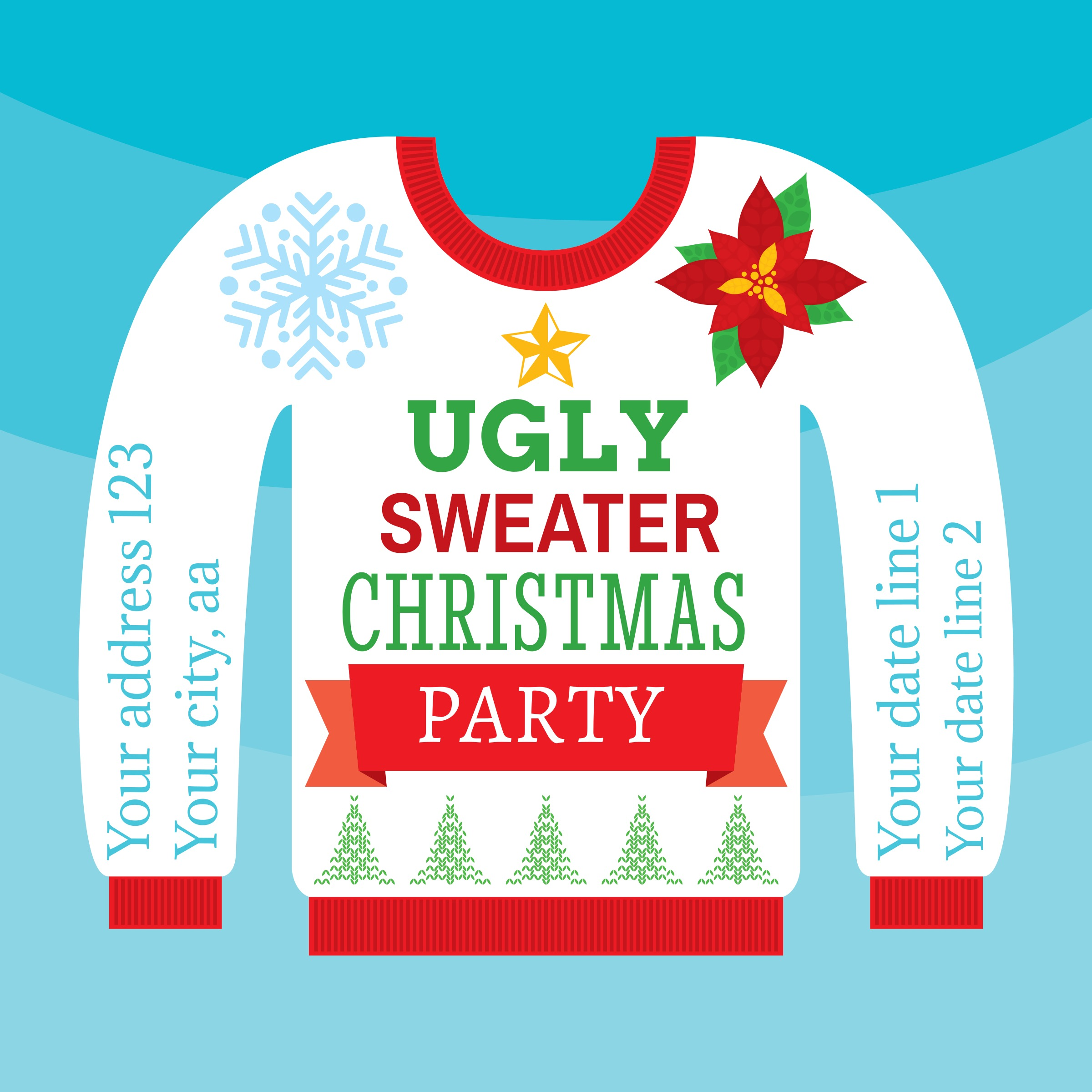 Ugly Christmas Sweater Card.