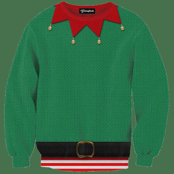 Elf Ugly Christmas Sweater.