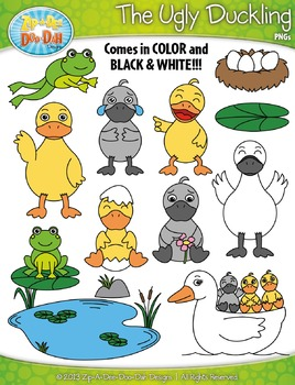 FREE The Ugly Duckling Fairy Tale Clipart {Zip.