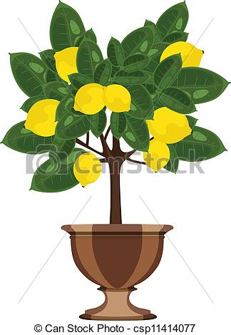 Clipart Lemon Tree.
