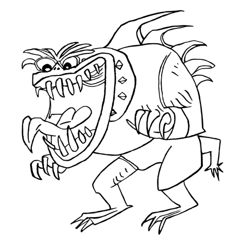 Ugly monster vector.