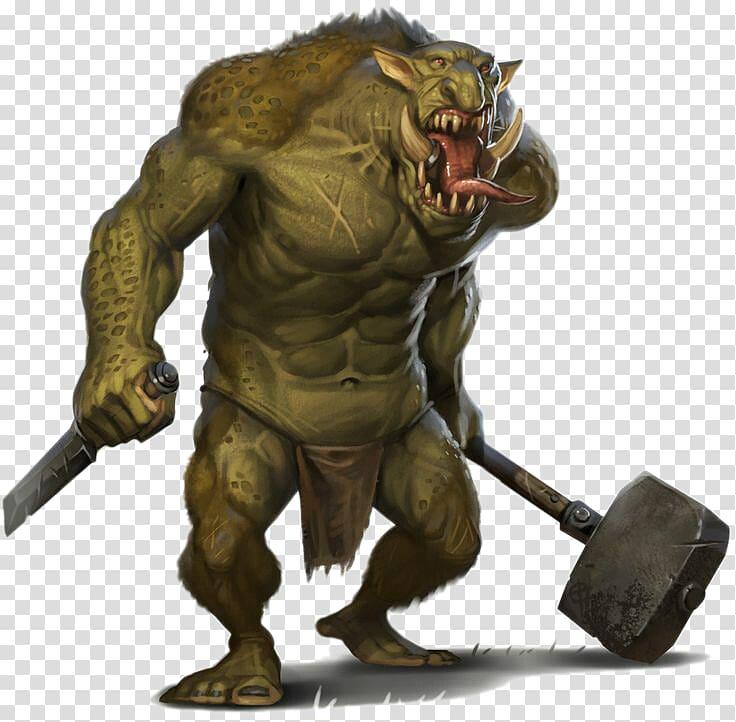 Troll Monster Minotaur Legendary creature Giant, Ugly orc.
