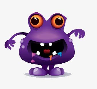 Purple Monster Clipart.