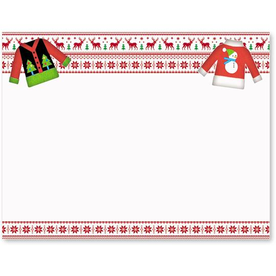 Christmas Sweater Border Clipart.