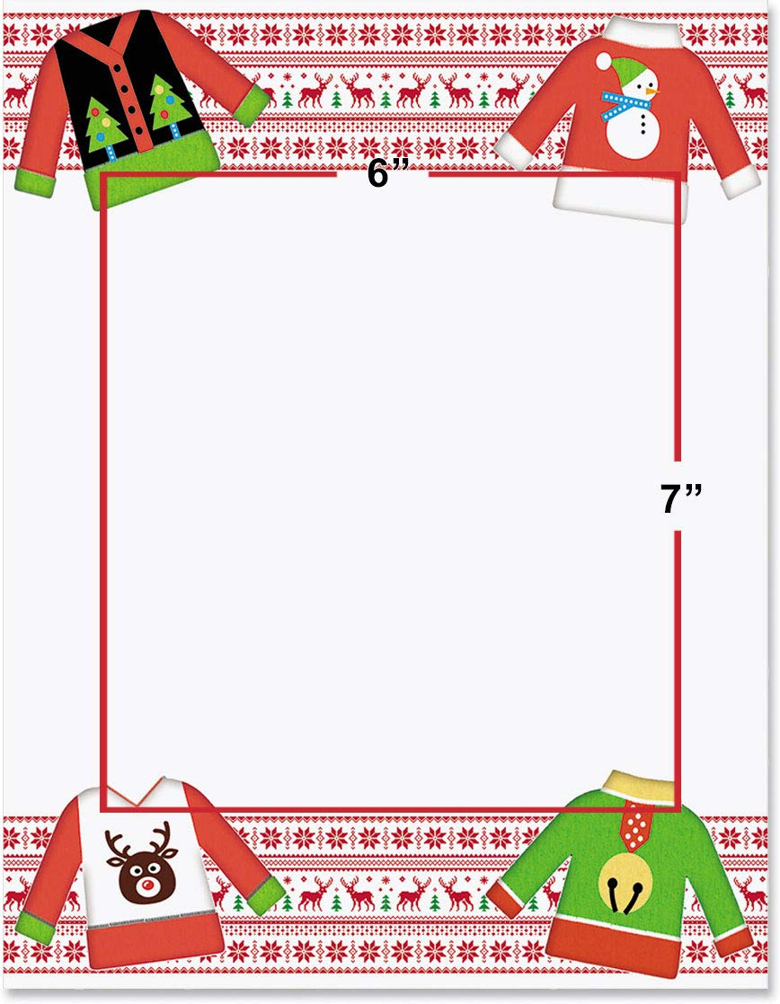 Amazon.com : Holiday Stationery, Ugly Sweater, 8.5 x 11, 25.