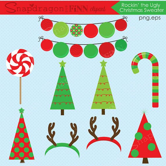 Ugly Christmas Sweater Clipart Christmas clipart Christmas.
