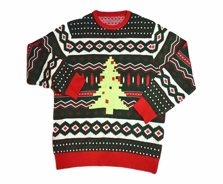 Christmas Tree Swag Ugly Sweater Cardigan.