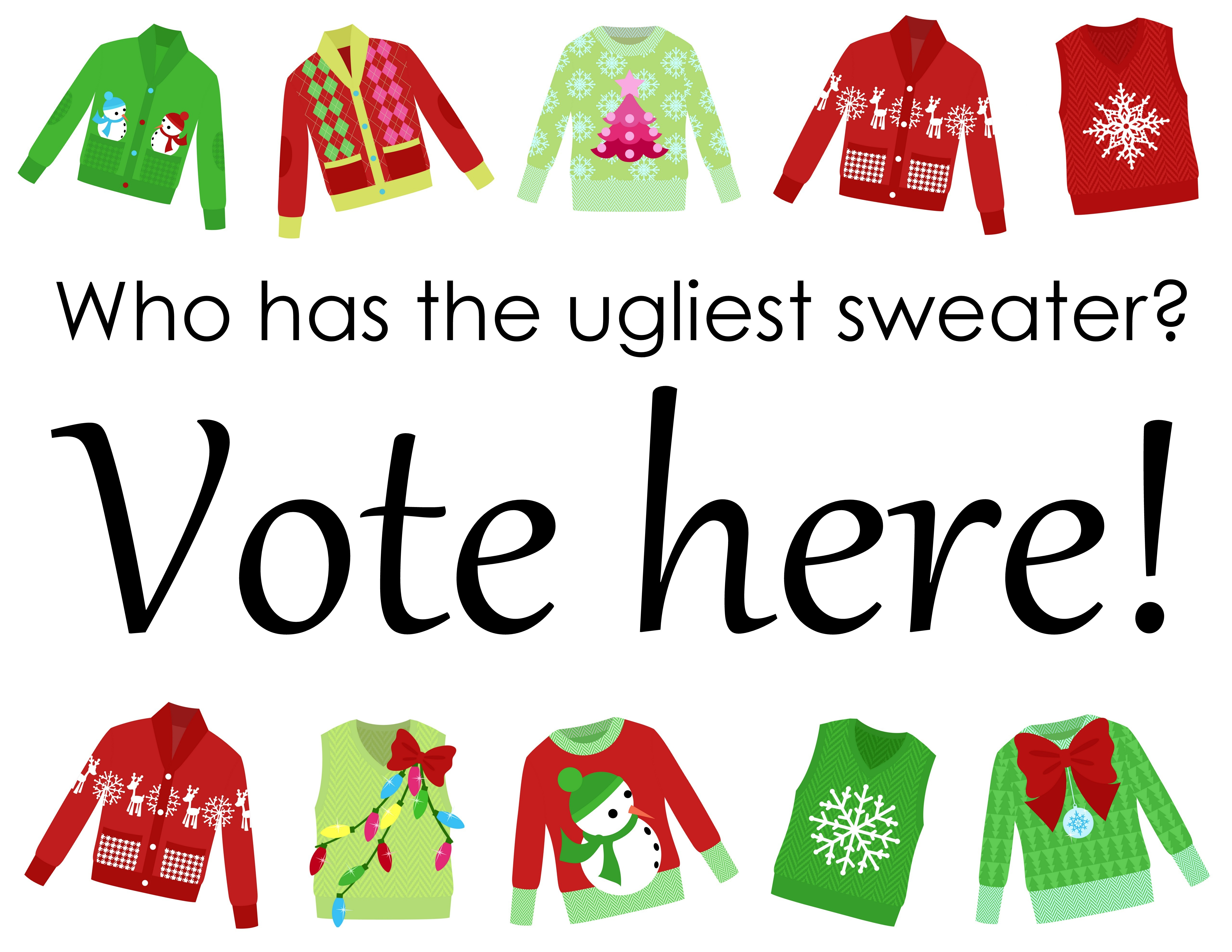 Ugly Sweater Contest Clipart.