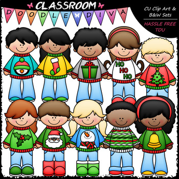 Ugly Christmas Sweater Clipart Worksheets & Teaching.