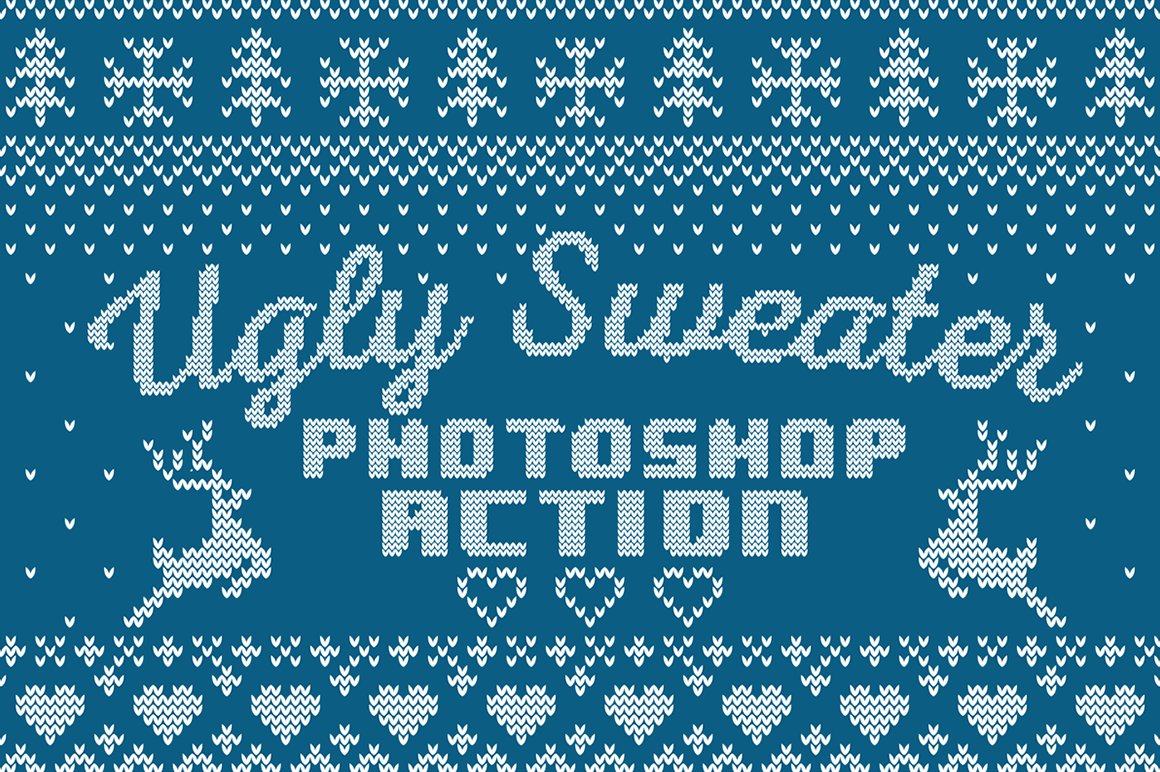 Ugly Sweater Photoshop Action ~ Photoshop Add.