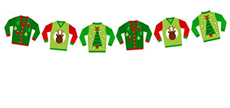 Amazon.com: Ugly Sweater Garland, Ugly Sweater Banner, Ugly.