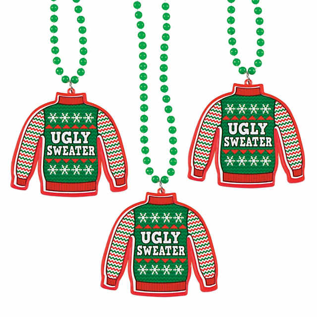 Ugly Sweater Necklaces.