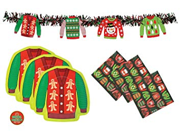 Ugly Sweater Party Supplies Pack.