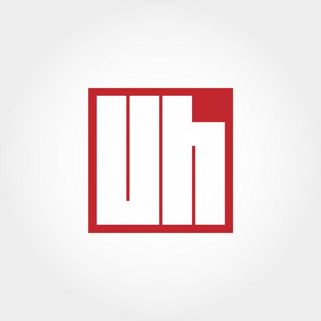 Initial Letter Uh Logo Template Template for Free Download.