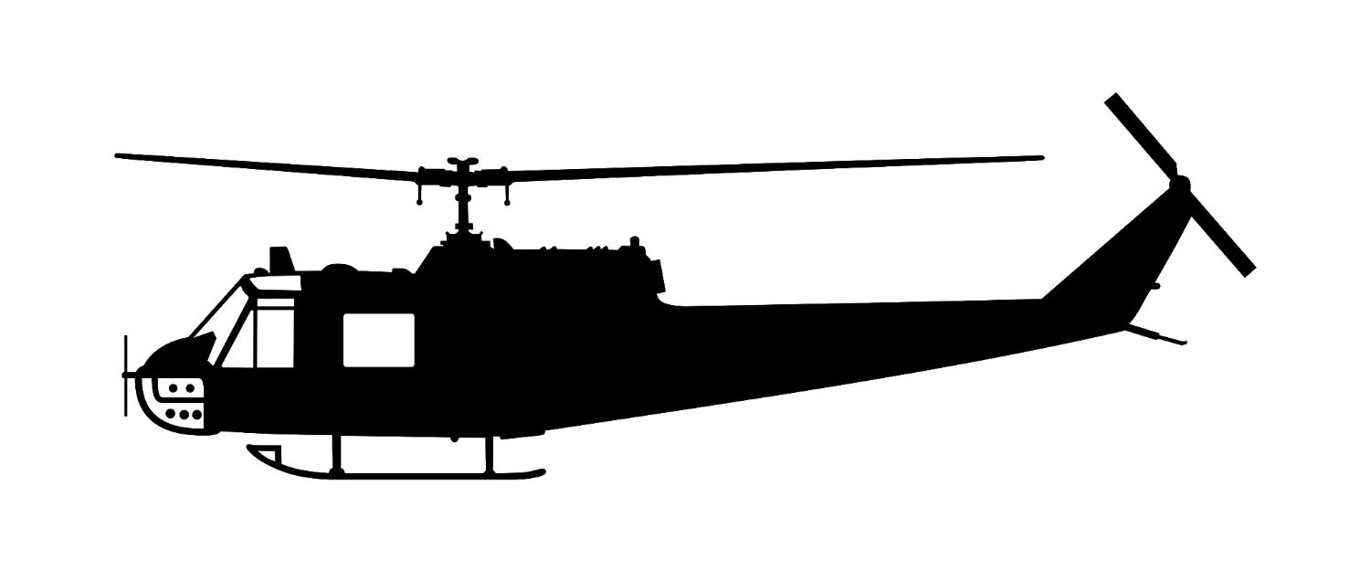 Huey Helicopter Clipart.