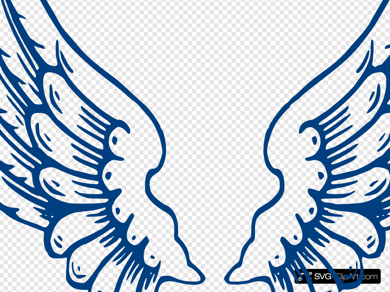 Wings1 Clip art, Icon and SVG.