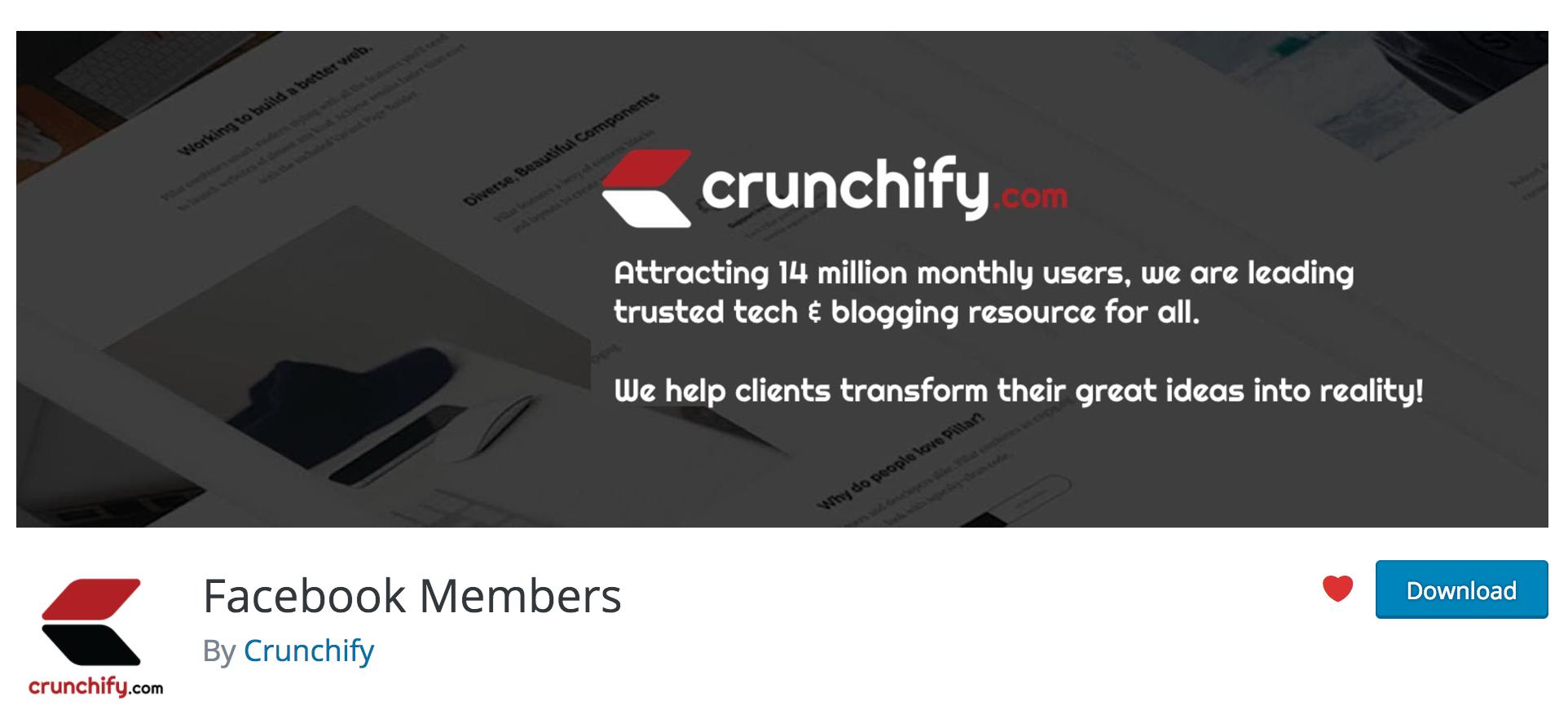 Facebook Members / Page Like box WordPress Plugin • Crunchify.