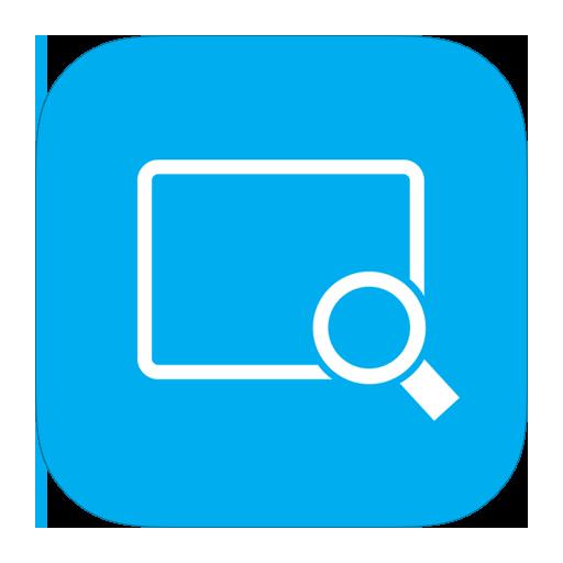 MetroUI Apps Magnifier Icon.